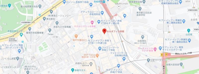 セルオフィス赤坂地図